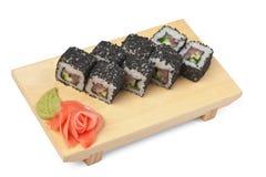 Traditional Asian food sushi Royalty Free Stock Photos