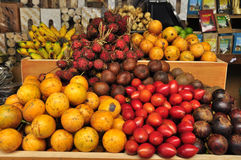 Traditional asian fruits at the market Royalty Free Stock Photo