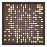 Traditional asian goban board and weiqi go game. luxury variant. 3d illustration Stock Image