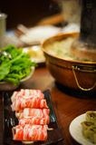 Traditional Asian Hot Pot Royalty Free Stock Photography
