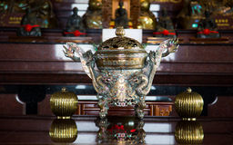 Traditional asian incense burner with a dragon. Royalty Free Stock Images