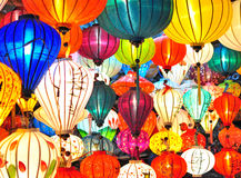 Traditional asian lanterns. Traditional colorful asian lanterns, Vietnam Stock Image