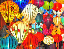 Traditional asian lanterns. In Vietnam Royalty Free Stock Image