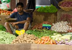 Traditional asian open market Stock Images