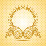 Traditional asian paisley design with copy-space Royalty Free Stock Images