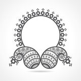 Traditional asian paisley design with copy-space Stock Image