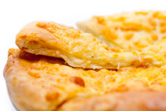 Traditional Asian pancake with cheese Royalty Free Stock Images