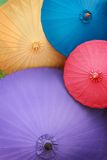 Traditional Asian paper umbrellas Stock Photos