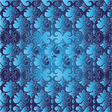 Traditional Asian seamless pattern. Blue and light blue seamless floral traditional pattern Stock Image