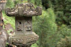 Traditional asian stone lantern Stock Image