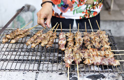 Traditional asian street food meat barbecue. Stock Image