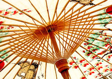 Traditional asian umbrella Stock Photography