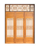 Traditional Asian window and door pattern, wood, chinese style w Stock Photos