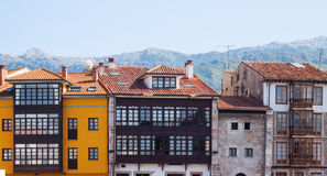 Traditional  asturian  dwelling houses Royalty Free Stock Images