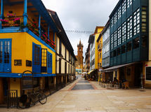 Traditional  asturian  dwelling houses at old part of Oviedo Royalty Free Stock Photography
