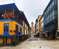 Traditional  asturian  dwelling houses at  Oviedo Royalty Free Stock Photos