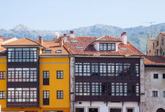 Traditional  asturian   houses Stock Photography