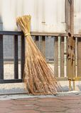 Traditional attap broom Stock Photography