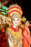 Traditional Attire. The tradisional costume of Negeri Sembilan is a prominent feature from Minang people (Bukit Tinggi).The resplendent attire of the women Stock Image