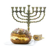 Traditional attributes of Hanukkah Stock Photos