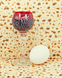 Traditional attributes for Jewish Passover Royalty Free Stock Image
