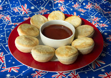 Traditional Australian Meat Pies. Stock Image