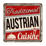 Traditional austrian cuisine  vintage rusty metal sign Stock Photography