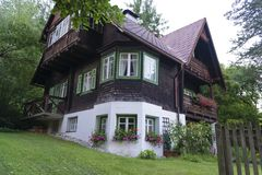 Traditional austrian house Royalty Free Stock Images