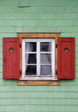 Traditional Austrian window Royalty Free Stock Images