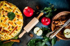 Homemade apple pie royalty free stock image