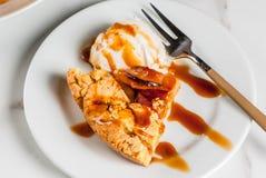 Wholegrain apple galette pie Stock Image