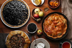 Traditional autumn pies Royalty Free Stock Images