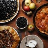Traditional autumn pies Stock Photo