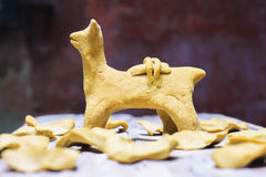 Traditional aymara bread quispina Royalty Free Stock Images