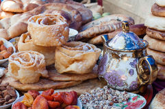 Traditional Azerbaijan Baked. Food, baked, dry fruit Royalty Free Stock Image