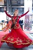 Traditional Azerbaijian dancer Stock Images