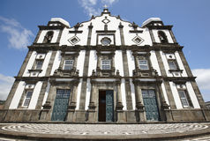 Traditional Azores Church In Flores Island. Nossa Senhora Da Con Royalty Free Stock Photography