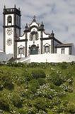 Traditional azores church in Porto Formoso. Sao Miguel island. P Stock Photo