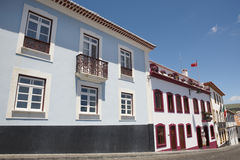 Traditional Azores street in Angra do Heroismo. Terceira island. Royalty Free Stock Photography