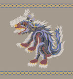 Traditional aztec coyote  illustration Royalty Free Stock Photo