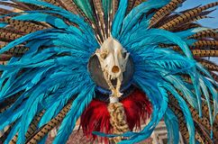 Traditional Aztec decorations. Mexico City Royalty Free Stock Photography