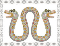 Traditional Aztec snake with two heads Royalty Free Stock Photos