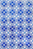 Traditional azulejos tiles on facade of old house, Algarve, Portugal Royalty Free Stock Photography