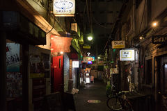 Traditional back street bar in Shinjuku Golden Gai. Tokyo, Japan - December 6, 2015: Traditional back street bar in Shinjuku Golden Gai Royalty Free Stock Image
