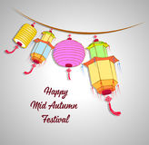 Traditional background for traditions of Chinese Mid Autumn Festival or Lantern Festival Royalty Free Stock Image