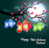 Traditional background for traditions of Chinese Mid Autumn Festival or Lantern Festival Stock Photography