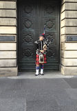 Traditional Bagpipe Player Royalty Free Stock Photography