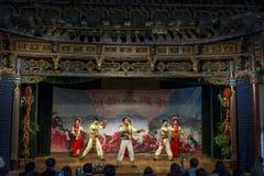 Traditional Bai performance, Xizhou village, China stock photography
