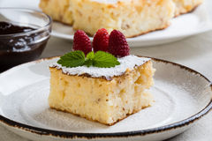 Traditional baked rice pudding Royalty Free Stock Photo