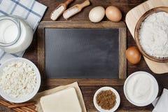 Traditional baking ingredients Royalty Free Stock Photos